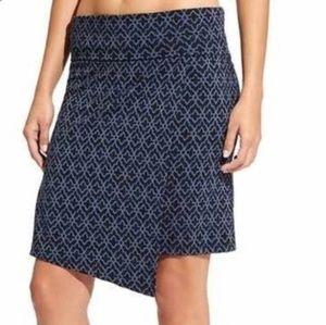 Athleta Moroccan Seaside Faux Wrap Skirt Navy * XS